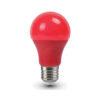 LED žiarovka s farebným krytom - E27, 9W, Červená farba, 806lm