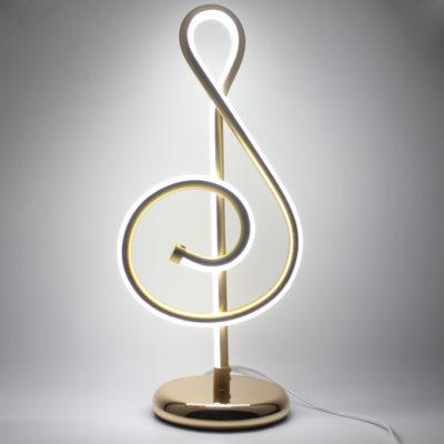 Moderná LED stolová lampa NOTA v zlatej farbe s LED pásom. Stolové lampysúdokonalým pomocníkom na Váš pracovný stôl (6)