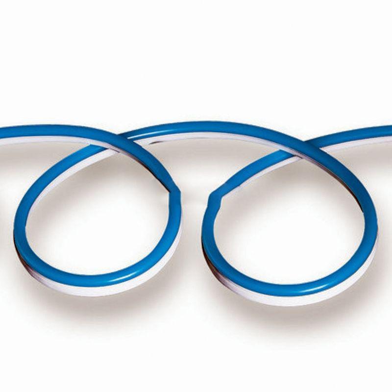 NEON FLEX, 24V, Modrá farba, 10 metrové balenie