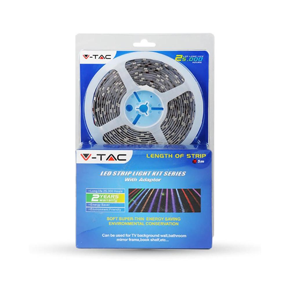Interiérový LED pás SET, SMD 5050, 60led/m, Studená biela, 9.6W/M