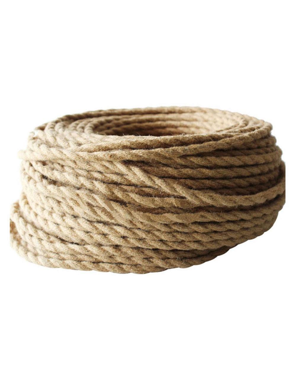 Kábel dvojžilový v podobe retro lana, 2 x 0.75mm, 5 metrov (zvýhodnená cena)