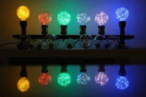 RGB kolekcia žiaroviek