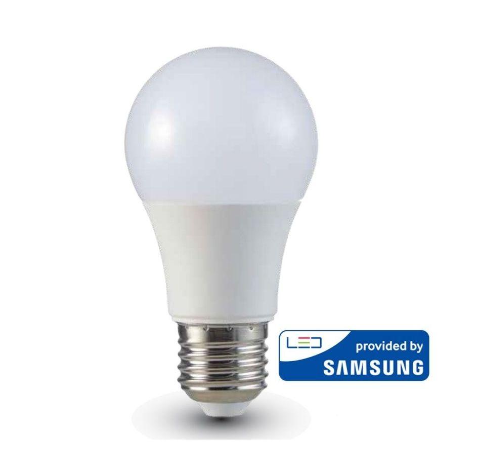 LED Žiarovka SAMSUNG čip, E27, 9W, Teplá biela, 806lm je veľmi kvalitná žiarovka, ktorá obsahuje originálny čip od prestížnej značky SAMSUNG (1)