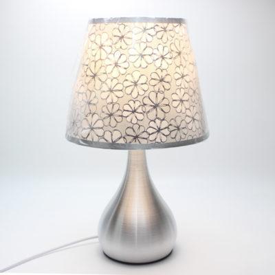 Moderná stolová lampa s dekoračným tienidlom a stmievačom nažiarovkutypu E27. Táto stolová lampa je vyrobená z kvalitnej chirurgickej ocele (2)
