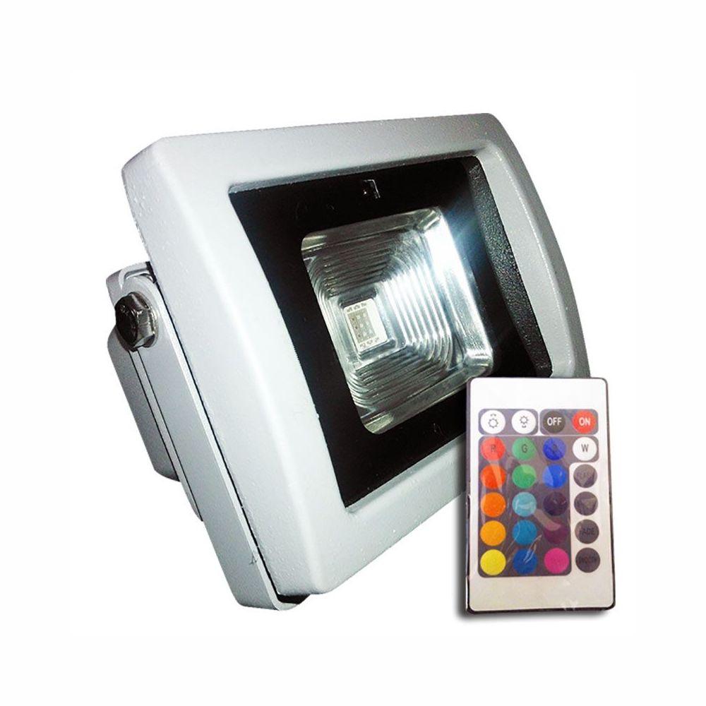 10W LED RGB Reflektor s IR diaľkovým ovládaním