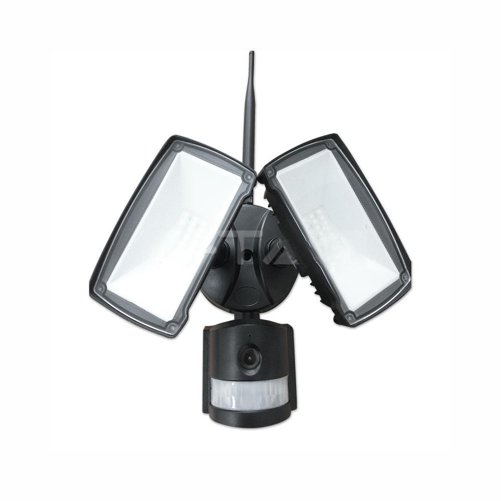 18W LED Reflektor s WIFI senzorovou kamerou, Studená biela, čierny