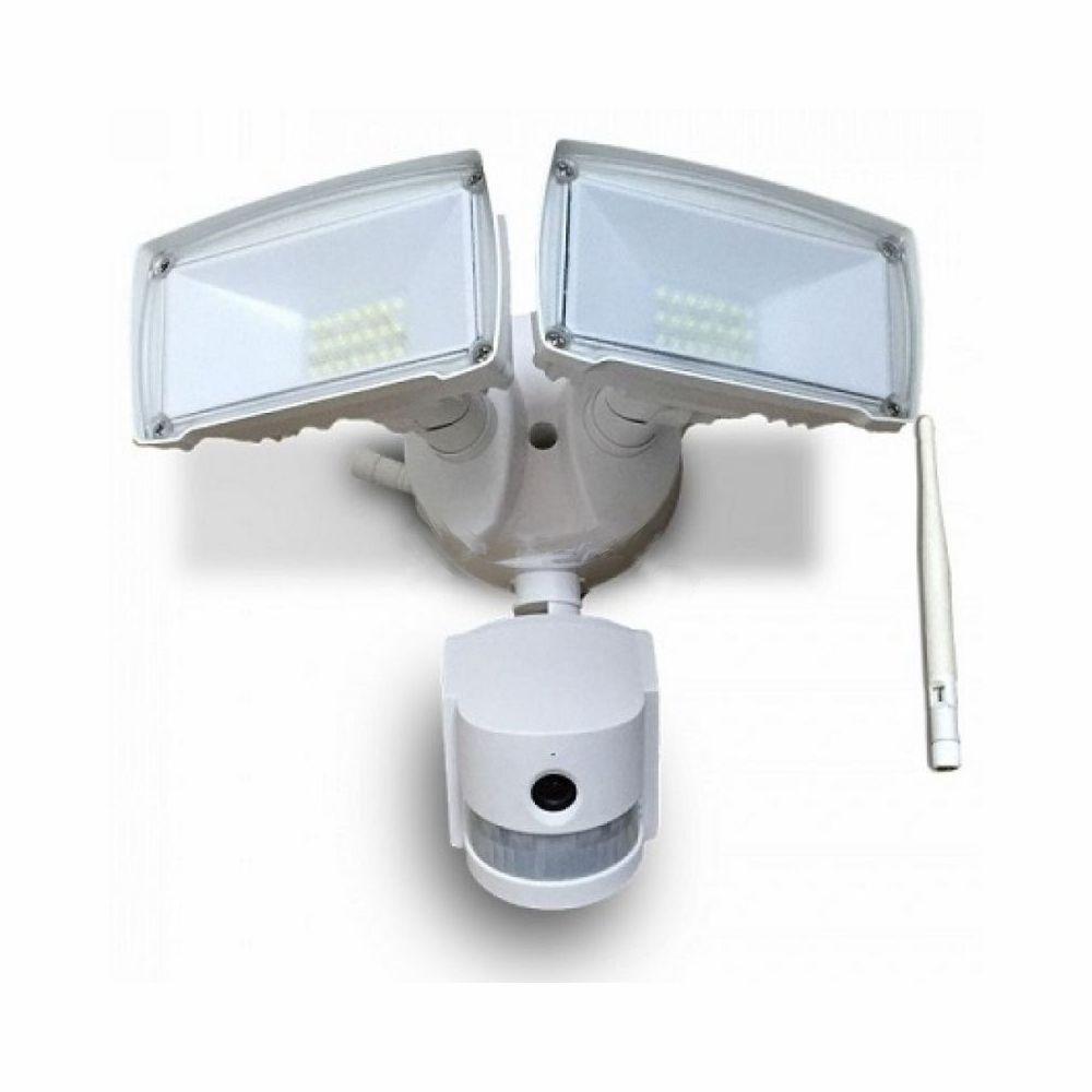 18W LED Reflektor s WIFI senzorovou kamerou, Studená biela, biely
