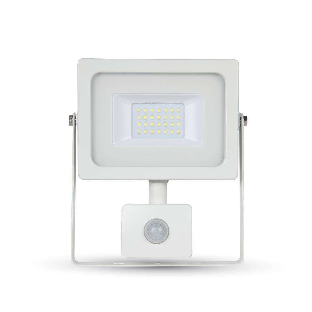20W LED reflektor so senzorom, 1600lm, Denná biela, biely