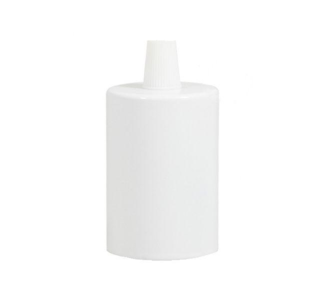 Biela kovová krytka + E27 objímka + 1 držiak kábla (2)