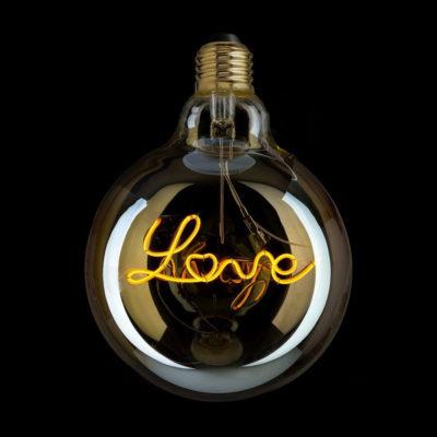 Edison Soft žiarovka, Love, E27, 130lm, 4W, Teplá biela, stmievateľná (2)