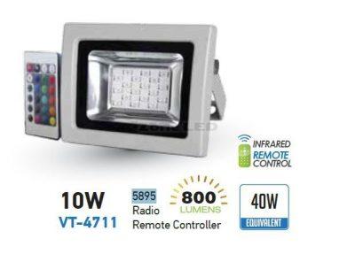 LED RGB Reflektor 10W s IR diaľkovým ovládaním (2)