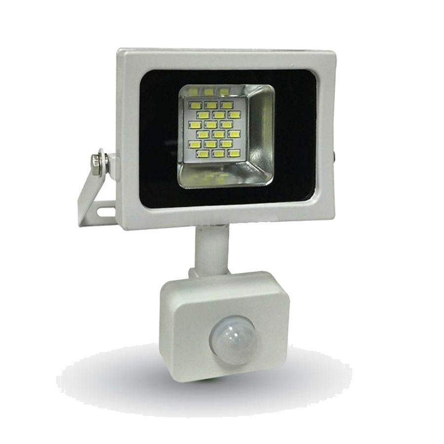 LED reflektor so senzorom- 10Ws výkonom 10 Wattov je schopný vyprodukovať 800 LM svetla, čo je ekvivalentné s 50 W svetla