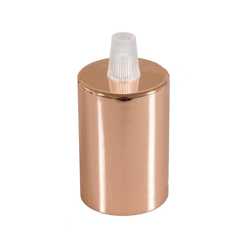 Medená kovová krytka + E27 objímka + 1 držiak kábla (1)