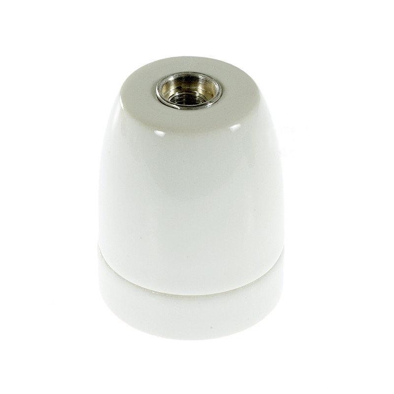 Porcelánová objímka E27 • biela farba. Porcelánové kvalitnéobjímky (3)