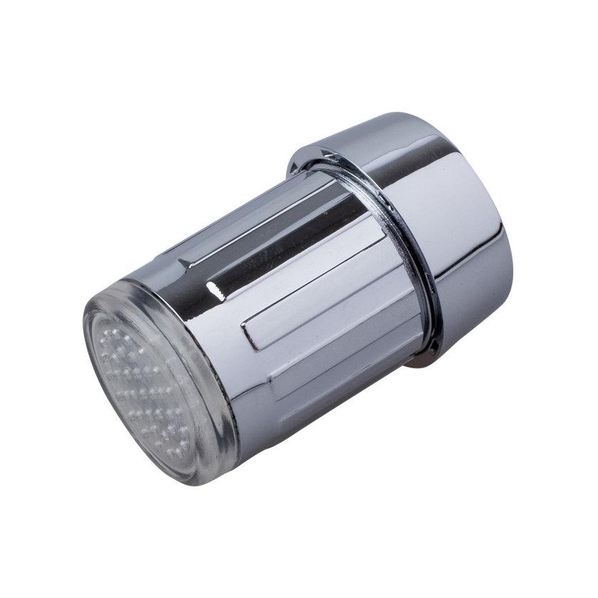 Svietiaci LED nástavec na kohútik. Prídavná hlavica na vodovodný kohútik