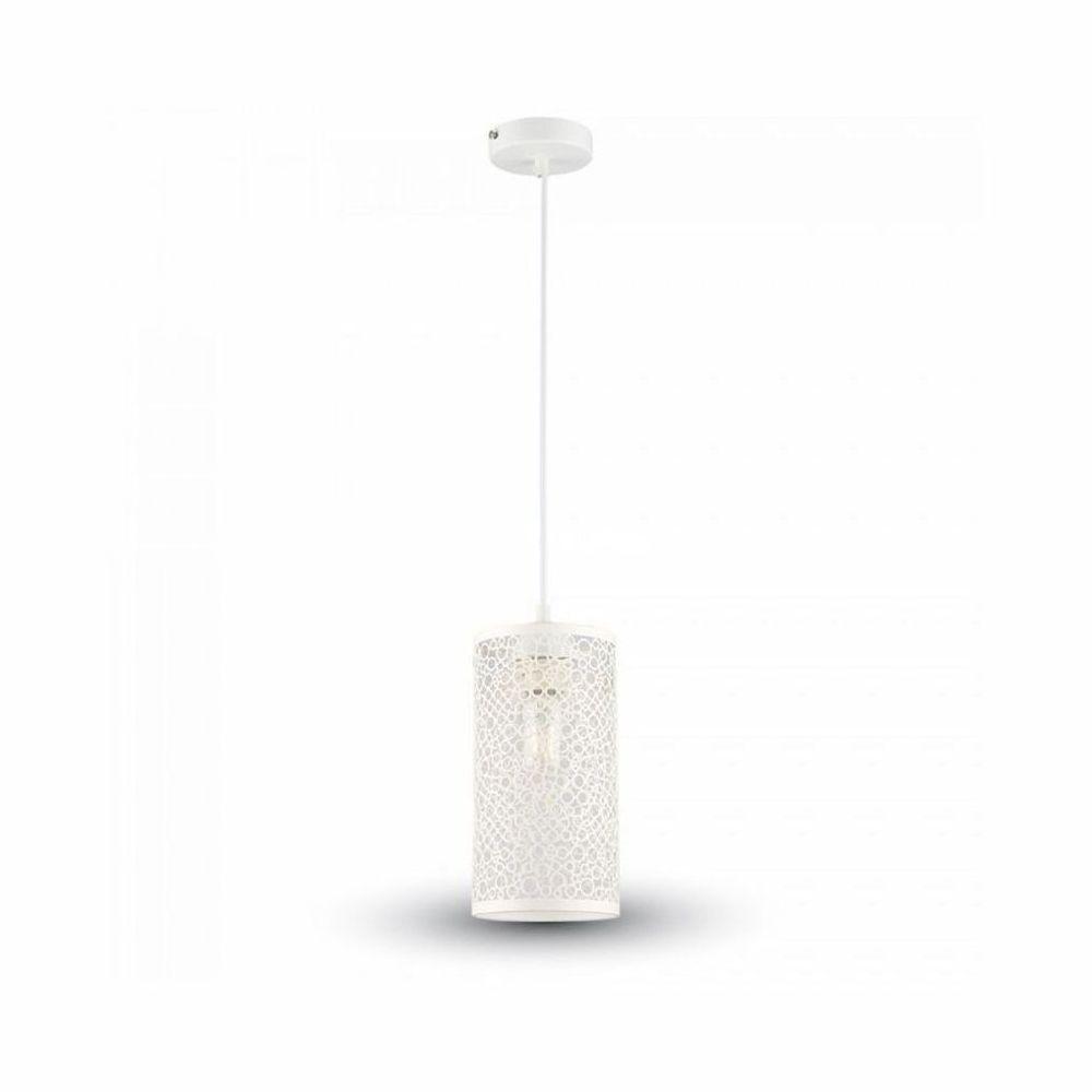 Závesné retro svietidlo Cylinder v bielej farbe na žiarovky typu E27je svietidlo určené na stenu v rustikálnom vzhľade