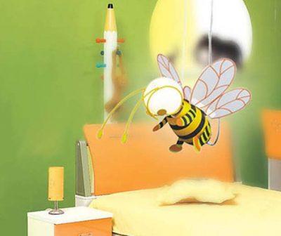 Detské závesné svietidlo v tvare Včielky. Toto kreatívne detské svietidlo vytvorí správnu atmosféru na hranie, učenie alebo zábavu v detskej izbe (4)
