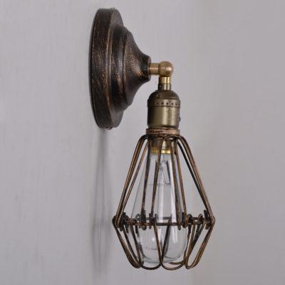 Historické nástenné svietidlo s retro klietkou (1)