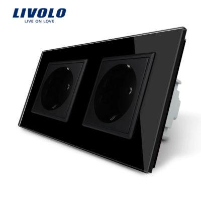 Luxusná zásuvka s ochranou typu SCHUKO v čiernej farbe