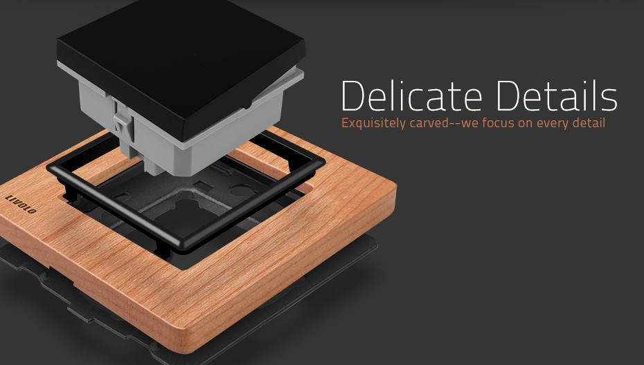 Luxusné mechanické vypínače v drevenom prevedení. Tieto elegantné vypínače v elegantnom vzhľade sa používajú na ovládanie svetla 4 - Luxusný mechanický vypínač č.5B v drevenom prevedení