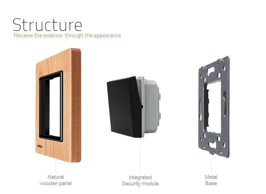 Luxusné mechanické vypínače v drevenom prevedení. Tieto elegantné vypínače v elegantnom vzhľade sa používajú na ovládanie svetla 5 - Luxusný mechanický vypínač č.5B v drevenom prevedení