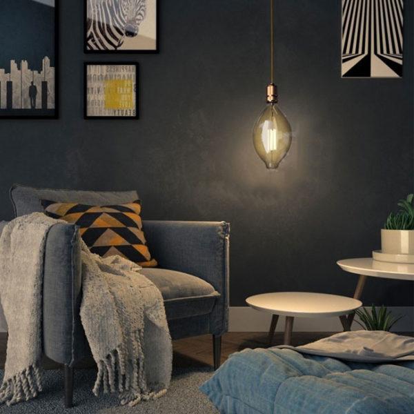 Edison Soft žiarovka, Big Mallet, E27, 1000lm, 11W, Teplá biela, stmievateľná | Daylight Italia