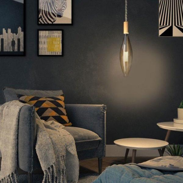 Edison Soft žiarovka, Mallet, E27, 1000lm, 11W, Teplá biela, stmievateľná | Daylight Italia