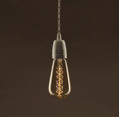EDISON žiarovka - SPIRAL TEARDROP - E27, 30W, 60lm (2)