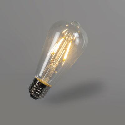 FILAMENT žiarovka - NEW LANTERN - E27, 4W, 450lm (1)