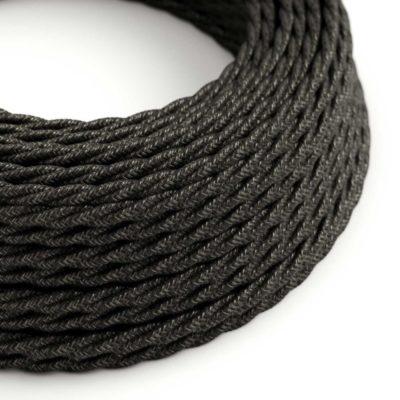 Kábel dvojžilový skrútený v podobe textilnej šnúry so vzorom, Grigio, 2 x 0.75mm, 1 meter