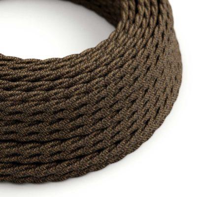 Kábel dvojžilový skrútený v podobe textilnej šnúry so vzorom, Marrone, 2 x 0.75mm, 1 meter