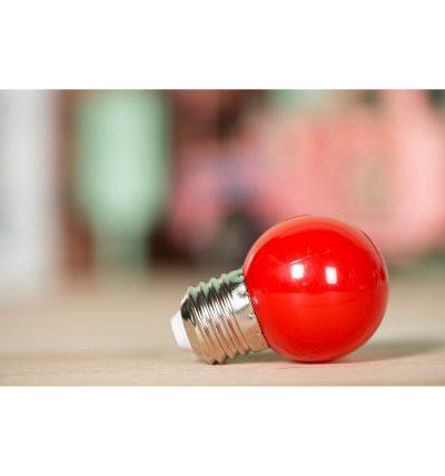 LED Dekoratívna žiarovka pre svetelné šnúry a reťaze, E27, 1W, Červená farba (3)