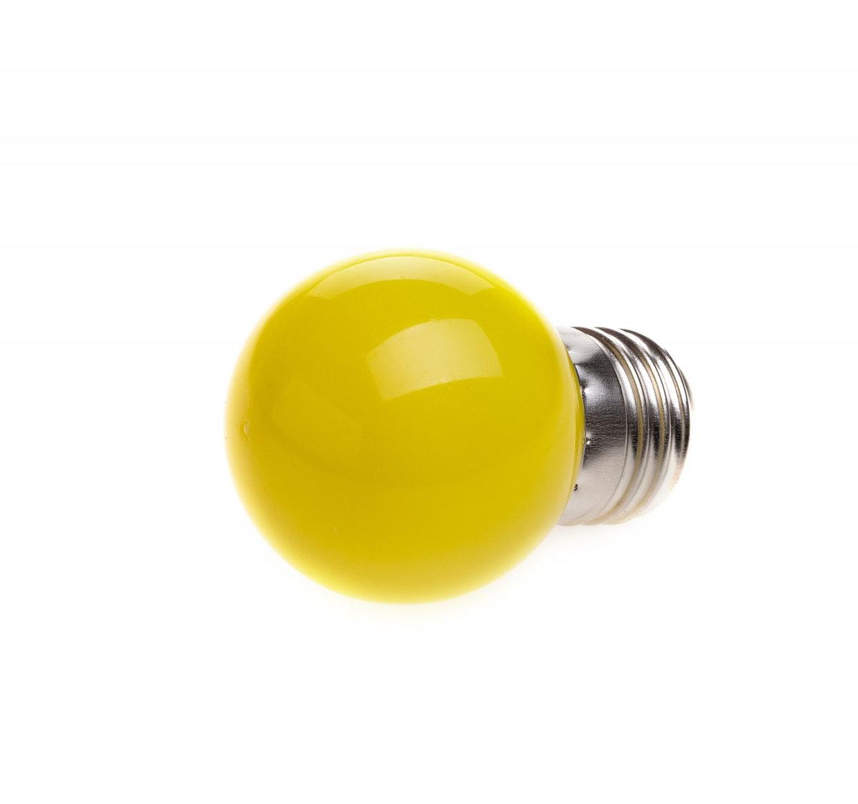 LED Dekoratívna žiarovka pre svetelné šnúry a reťaze, E27, 1W, Žltá farba (2)
