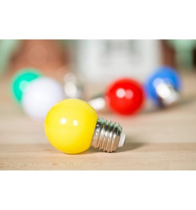 LED Dekoratívna žiarovka pre svetelné šnúry a reťaze, E27, 1W, Žltá farba (3)