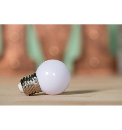 LED Dekoratívna žiarovka pre svetelné šnúry a reťaze, E27, 1W, Biela farba (3)
