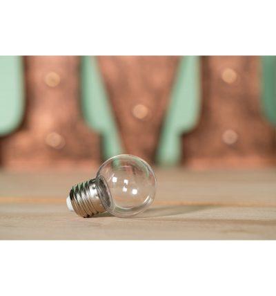 LED Dekoratívna žiarovka pre svetelné šnúry a reťaze, E27, 1W, Transparentná (1)