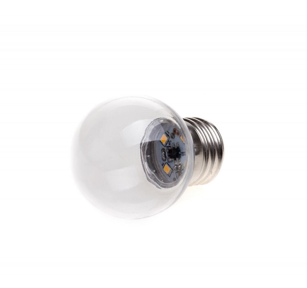 LED Dekoratívna žiarovka pre svetelné šnúry a reťaze, E27, 1W, Transparentná (2)