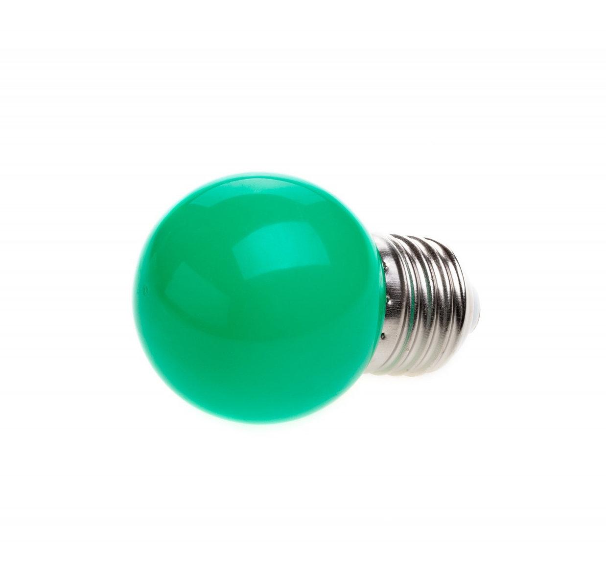LED Dekoratívna žiarovka pre svetelné šnúry a reťaze, E27, 1W, Zelená farba (2)