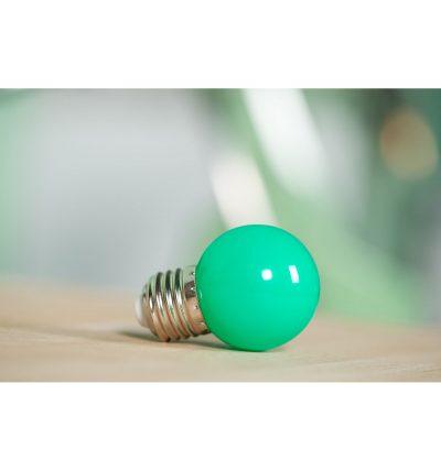 LED Dekoratívna žiarovka pre svetelné šnúry a reťaze, E27, 1W, Zelená farba (3)
