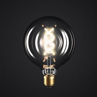 Edison Soft žiarovka, Dymová LED žiarovka - SPHERE - 5W, E27, Stmievateľná, 2000K (1)