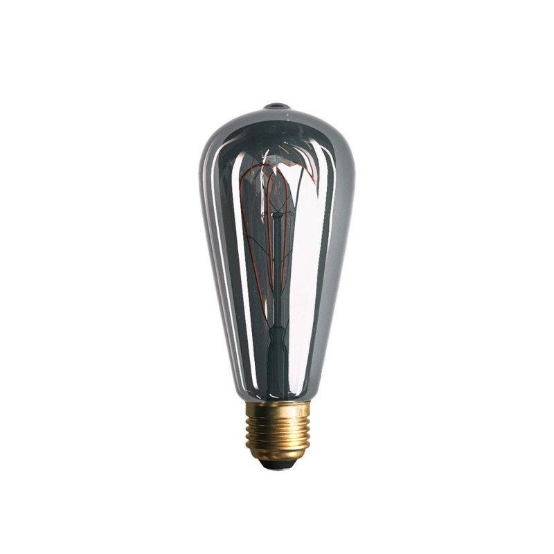 Edison Soft žiarovka, Dymová LED žiarovka - TEARDROP - 5W, E27, Stmievateľná, 2000K (2)