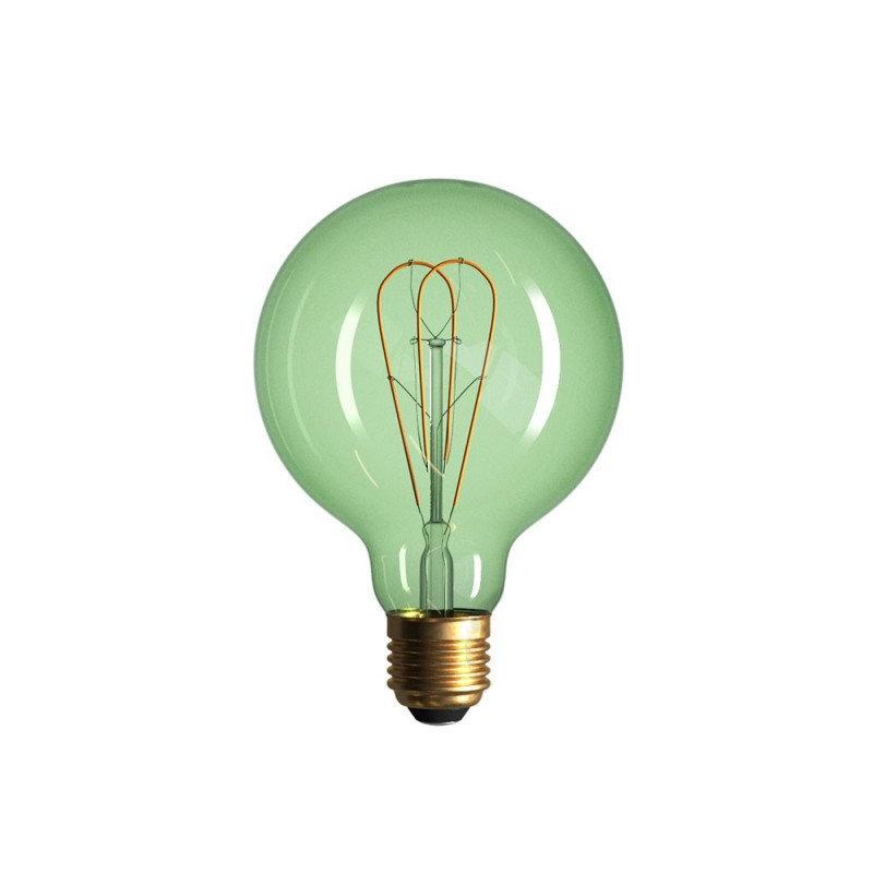 Edison Soft žiarovka, Smaragdová LED žiarovka - GLOBUS - 5W, E27, Stmievateľná, 2200K (1)