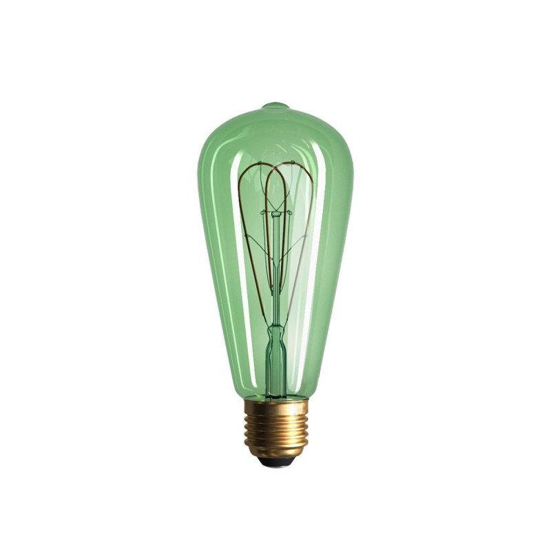 Edison Soft žiarovka, Smaragdová LED žiarovka - TEARDROP - 5W, E27, Stmievateľná, 2200K (1)
