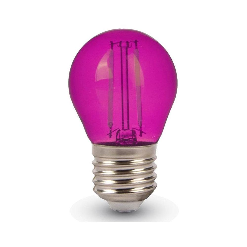 FILAMENT žiarovka - LITTLE - E27, Ružová, 4W, 60lm, V-TAC