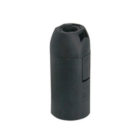 Plastová základná objímka E14 • čierna, objímky na svietidlá