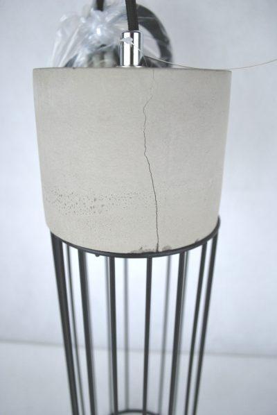 Betónové závesné svietidlo MESH - 2.AKOSŤ - Praskanie betónu (1)
