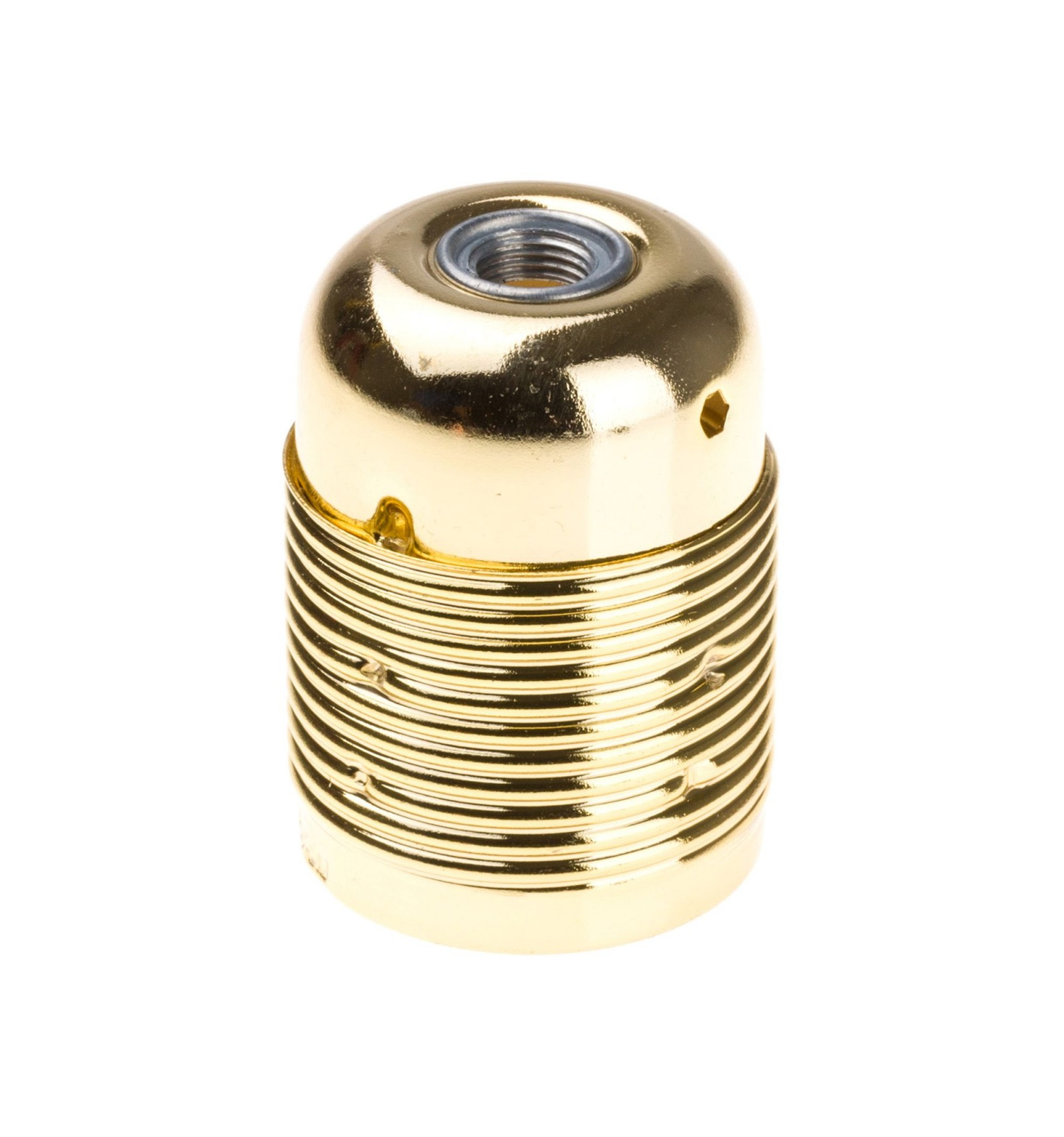 Retro kovová objímka s plastovým držiakom kábla v zlatej farbe (2)