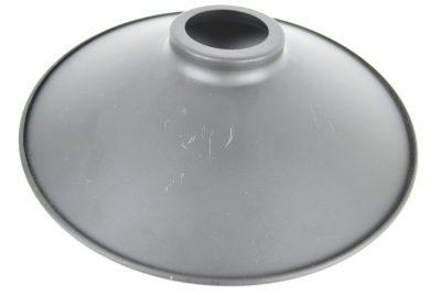 Retro kovové tienidlo v matnej čiernej farbe, priemer 22cm - 2.AKOSŤ – Poškriabaný kov (2)