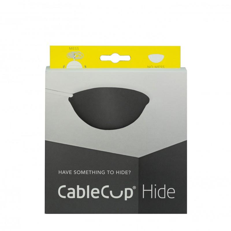 Stropná krytka káblov - Cable Cup Hide v čiernej farbe