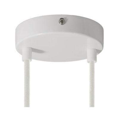 Stropný držiak pre 2 svietidlá, 12cm, kov, biela farba (1)